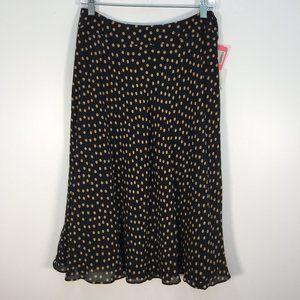 NWT Jones New York Black & Tan Silk A Line Skirt